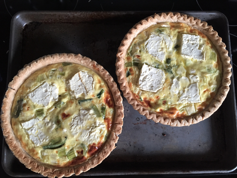 Leek, lemon feta quiche